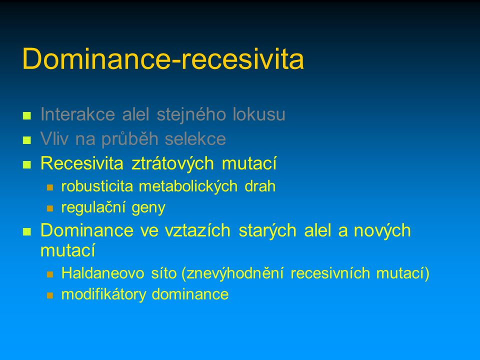 Dominance-recesivita