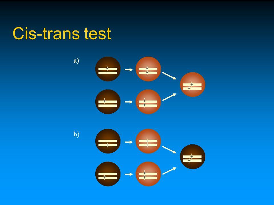 Cis-trans test a) b)