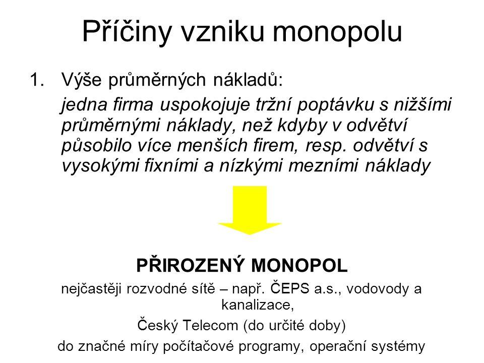 Příčiny vzniku monopolu