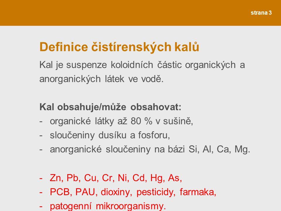 Definice čistírenských kalů