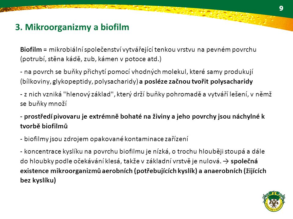 3. Mikroorganizmy a biofilm