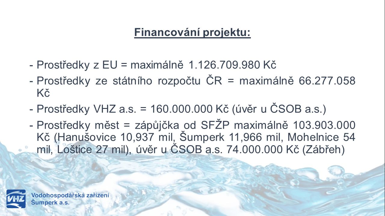 Financování projektu: