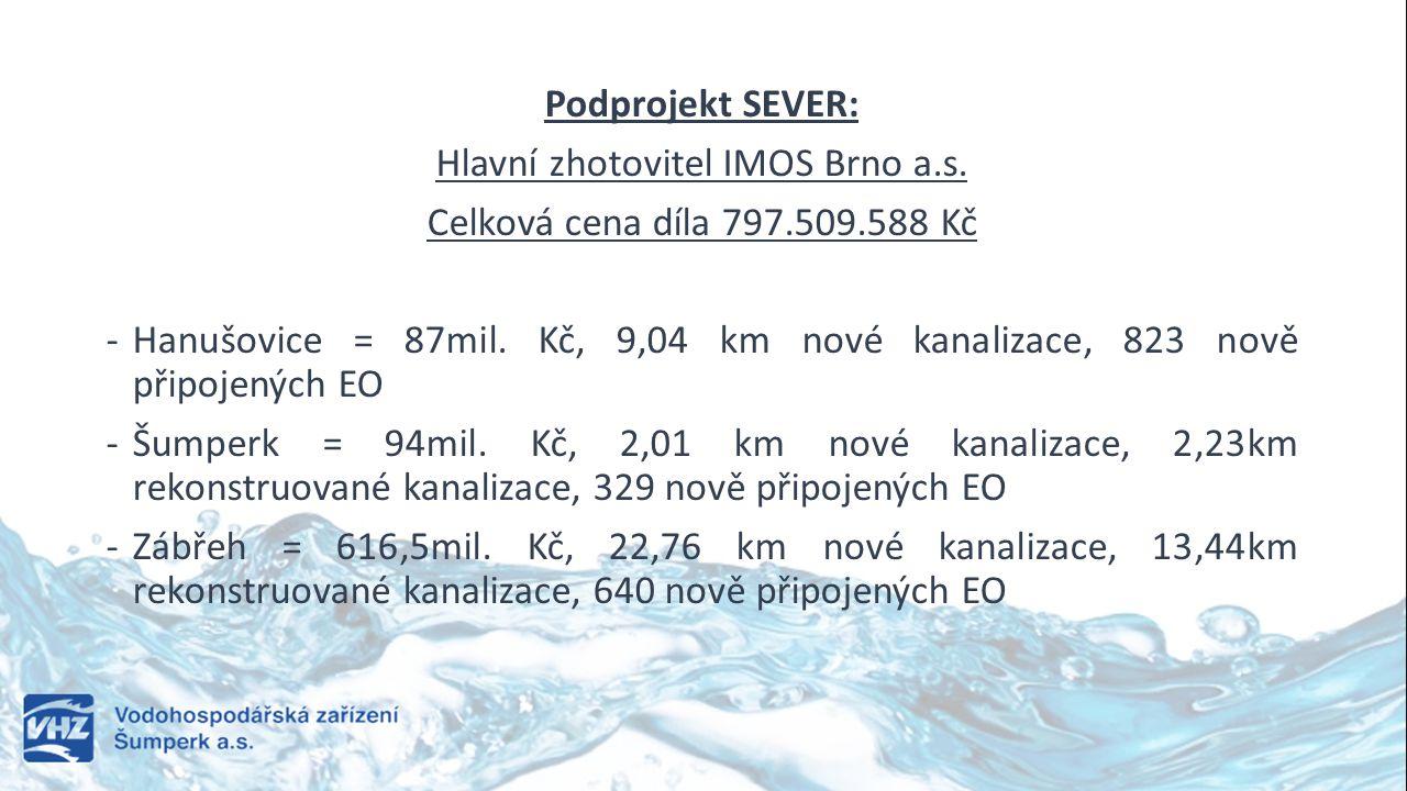 Hlavní zhotovitel IMOS Brno a.s.