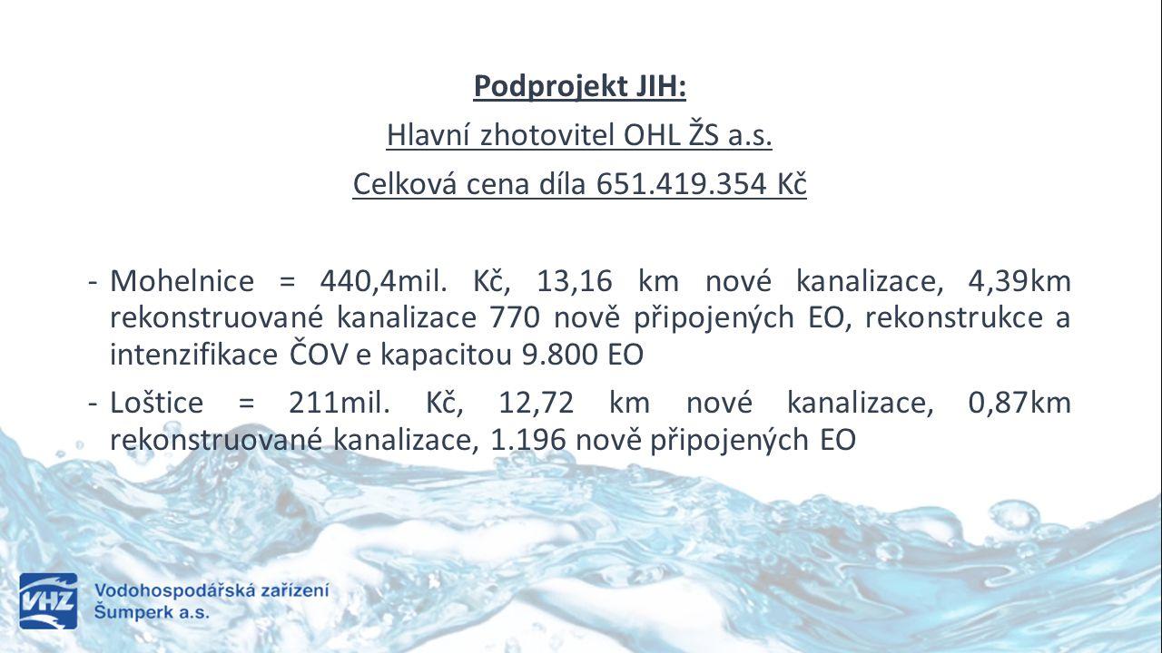 Hlavní zhotovitel OHL ŽS a.s.