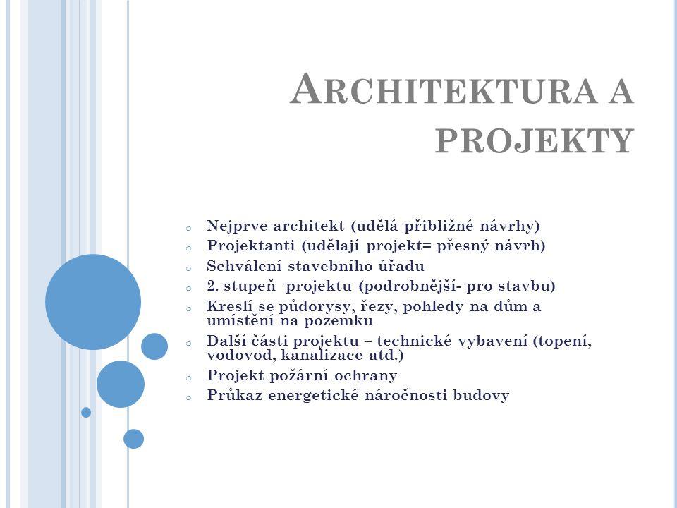 Architektura a projekty