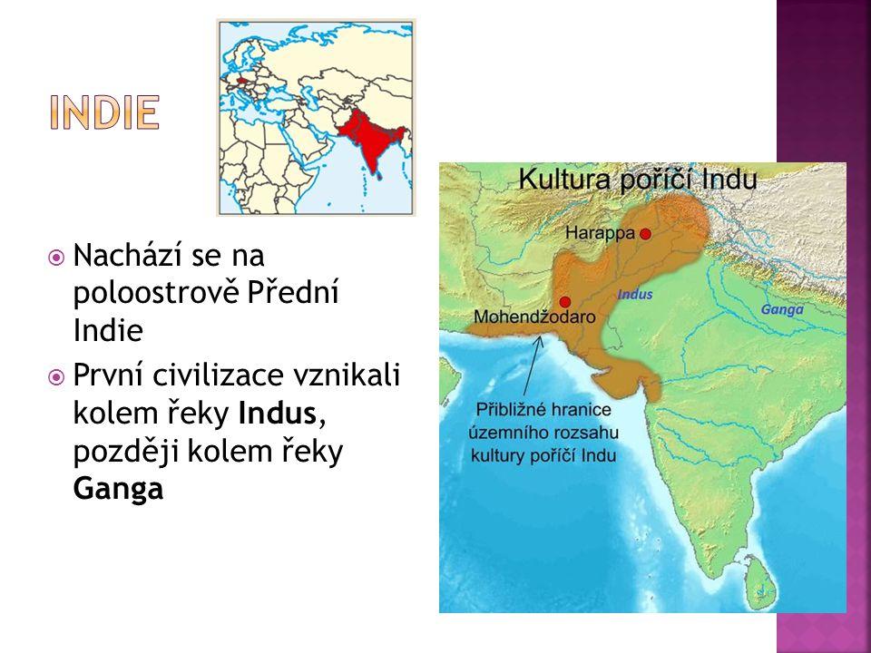 Indie Nachází se na poloostrově Přední Indie