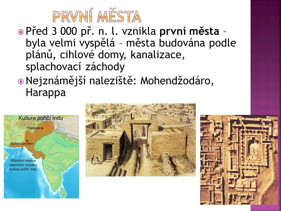 První města