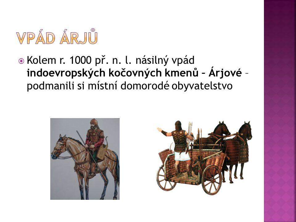 Vpád Árjů Kolem r. 1000 př. n. l.