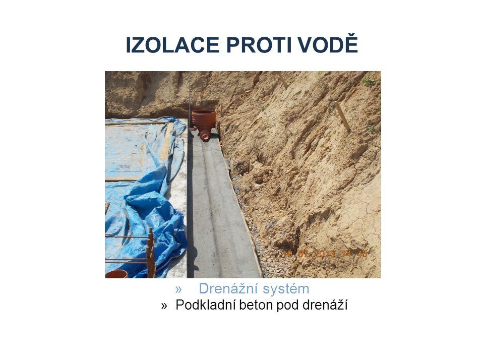 Podkladní beton pod drenáží