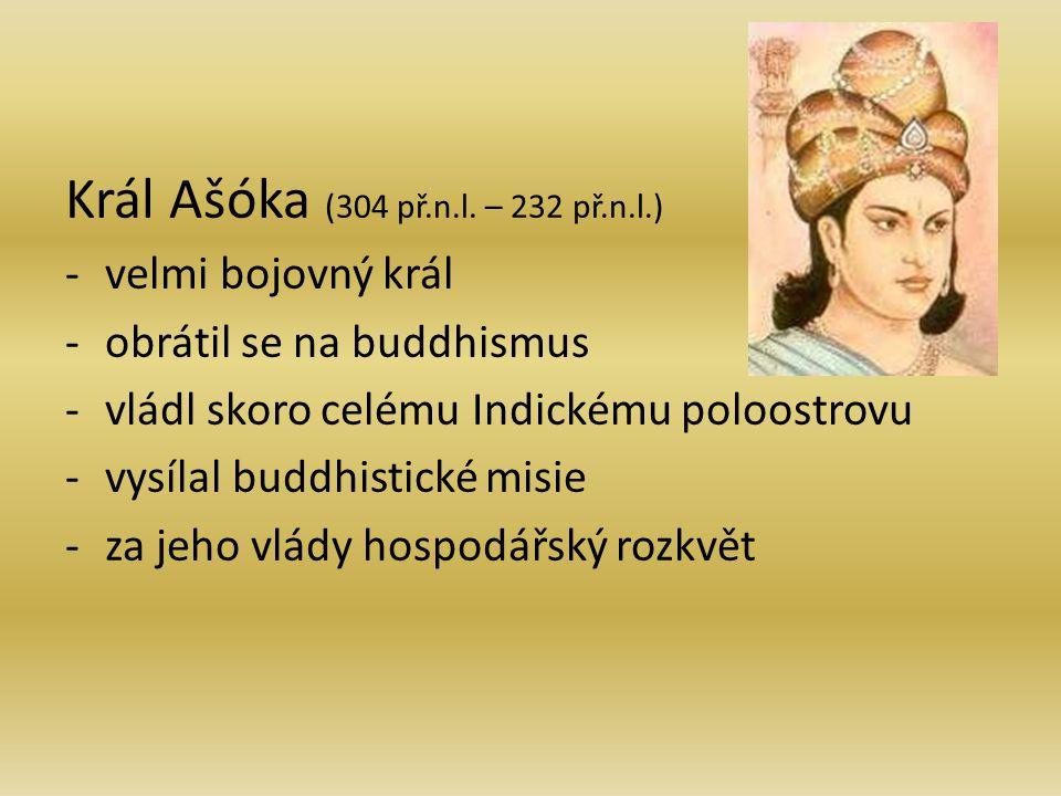 Král Ašóka (304 př.n.l. – 232 př.n.l.)