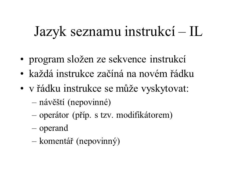Jazyk seznamu instrukcí – IL