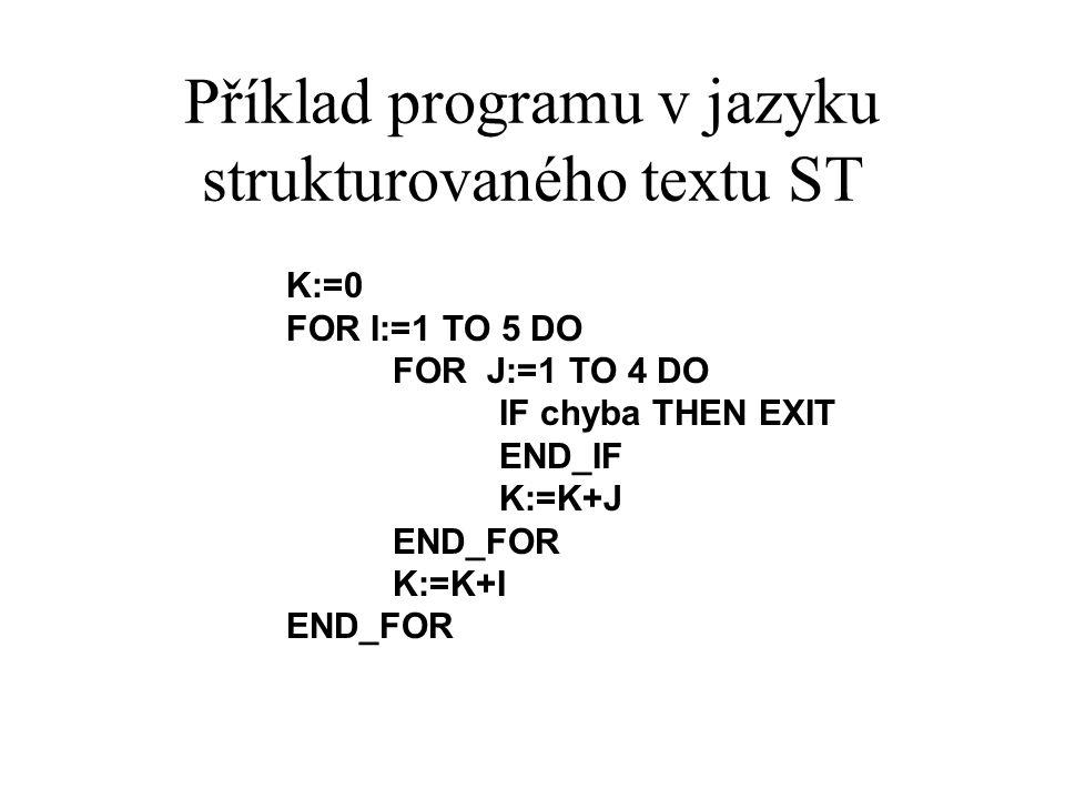 Příklad programu v jazyku strukturovaného textu ST