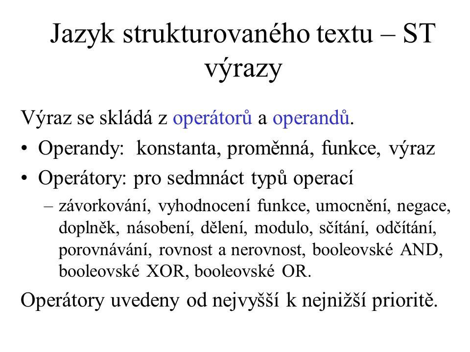 Jazyk strukturovaného textu – ST výrazy