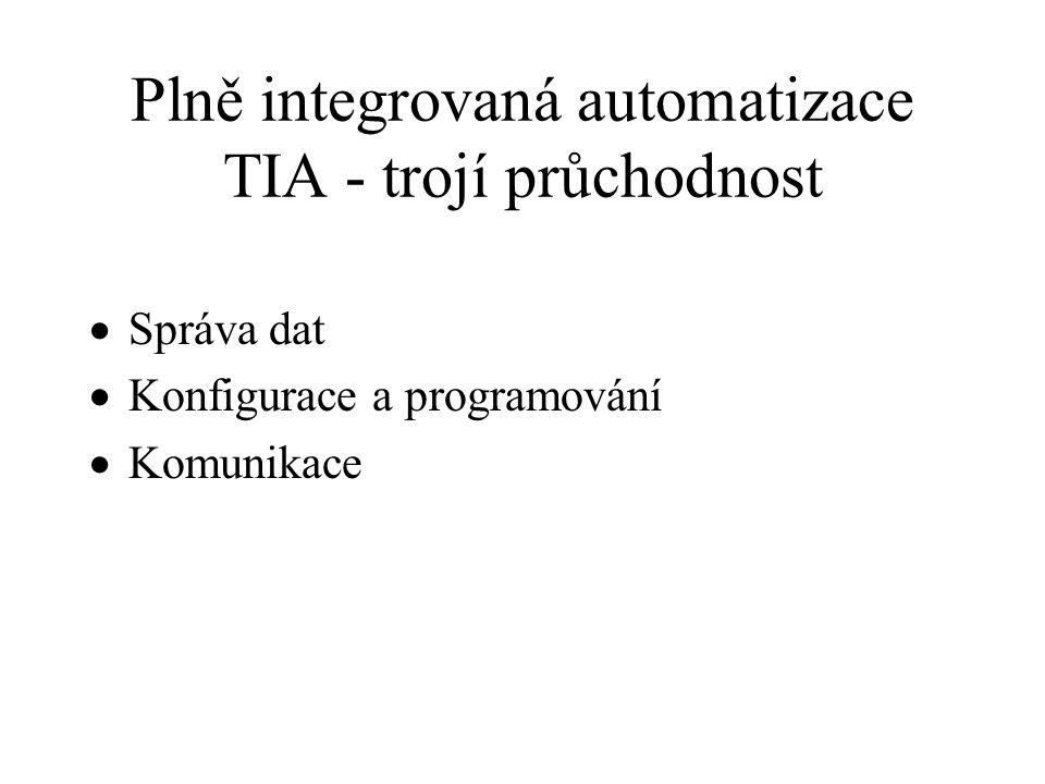 Plně integrovaná automatizace TIA - trojí průchodnost
