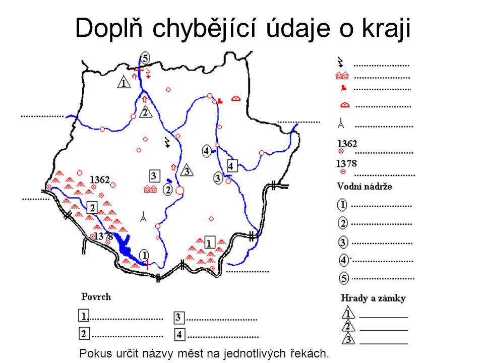 Doplň chybějící údaje o kraji