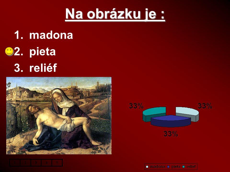 Na obrázku je : madona pieta reliéf 1 2 3 4 5