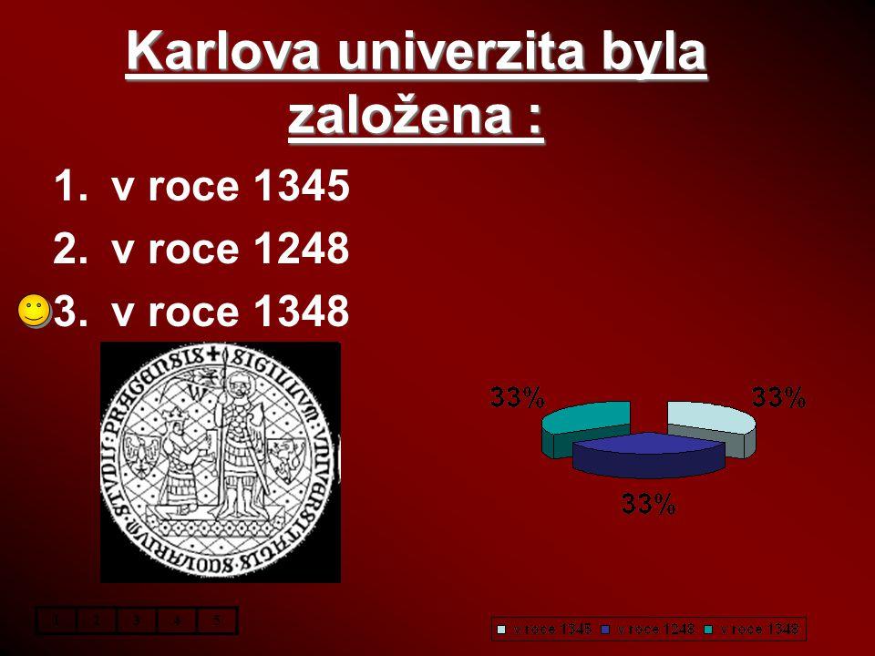 Karlova univerzita byla založena :