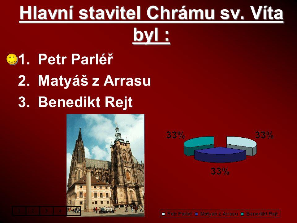 Hlavní stavitel Chrámu sv. Víta byl :