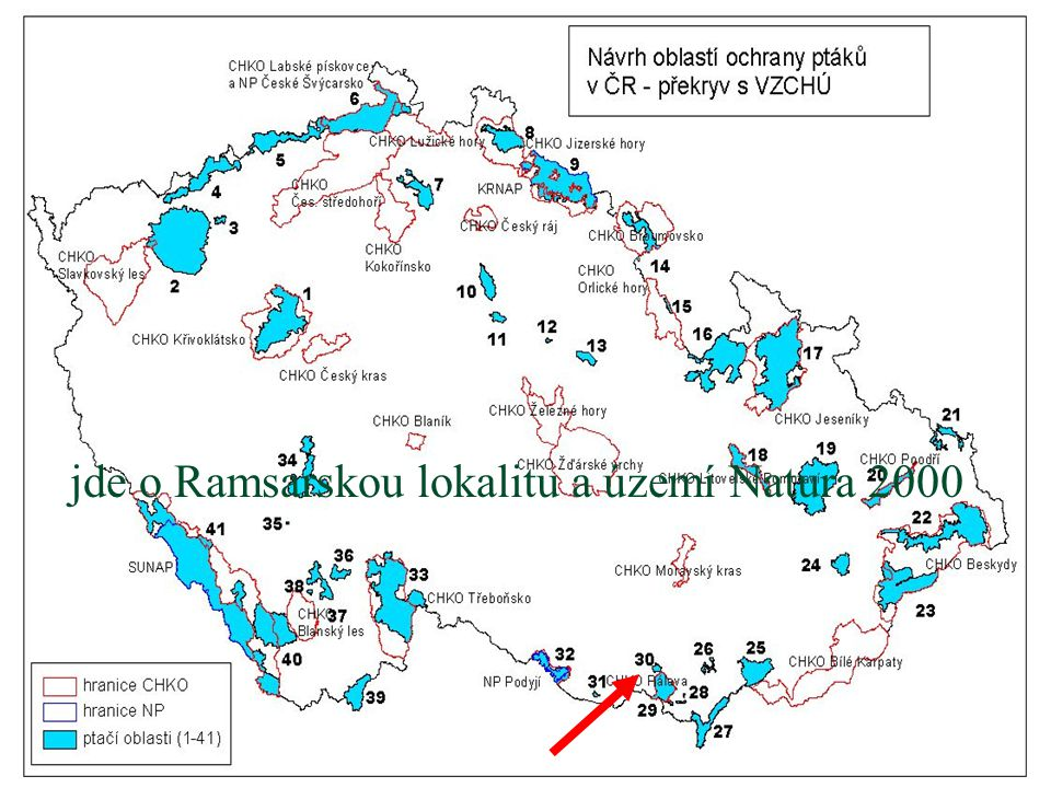 jde o Ramsarskou lokalitu a území Natura 2000