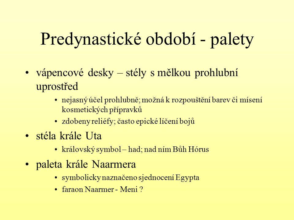 Predynastické období - palety