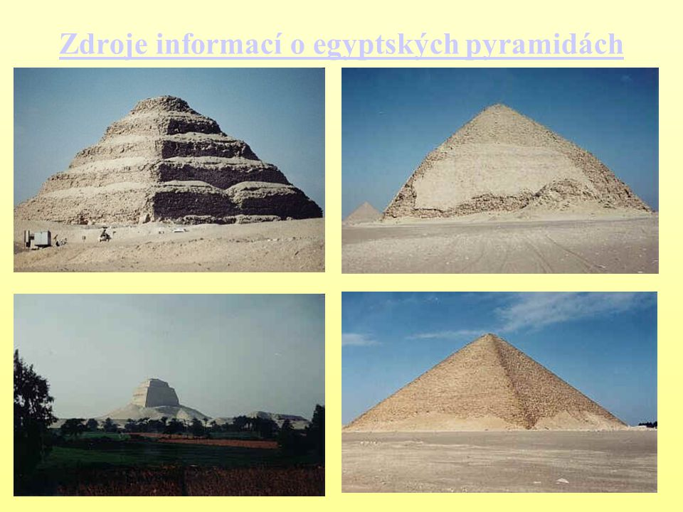 Zdroje informací o egyptských pyramidách