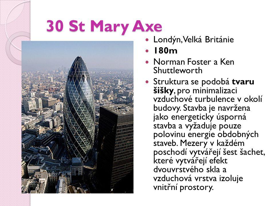 30 St Mary Axe Londýn, Velká Británie 180m