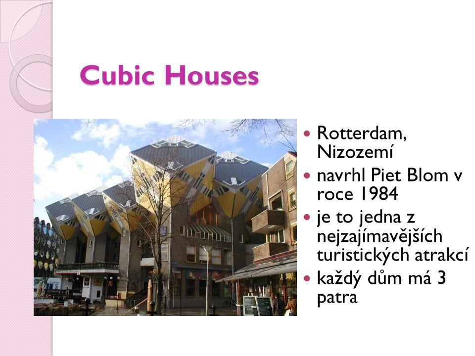 Cubic Houses Rotterdam, Nizozemí navrhl Piet Blom v roce 1984