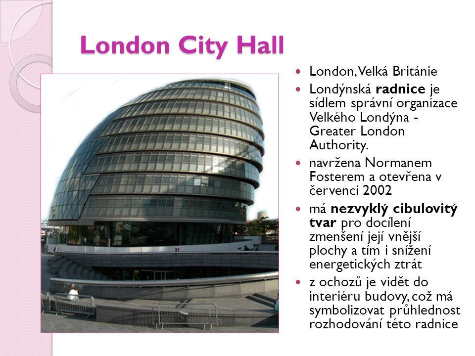 London City Hall London, Velká Británie
