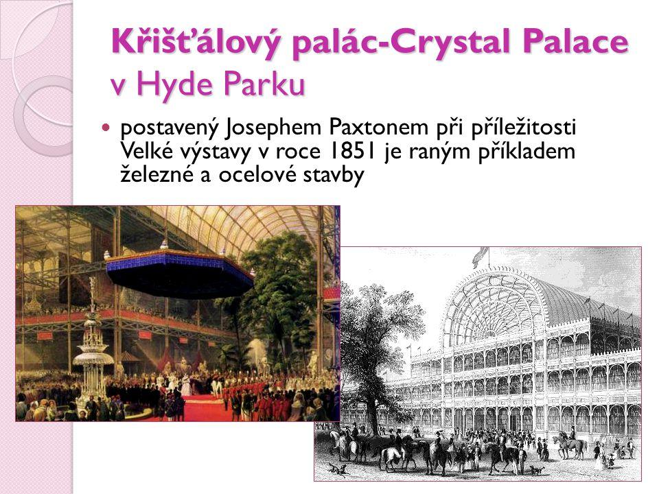 Křišťálový palác-Crystal Palace v Hyde Parku
