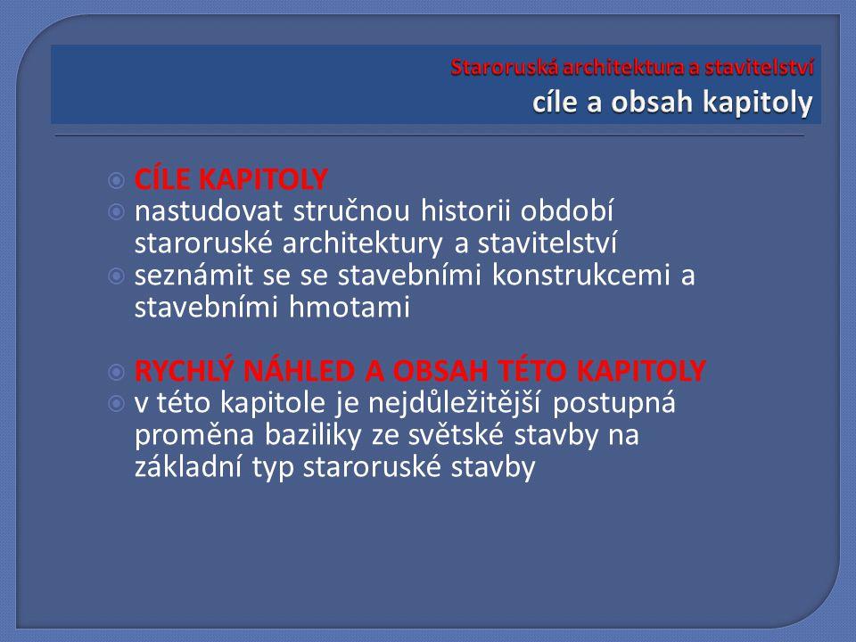 Staroruská architektura a stavitelství cíle a obsah kapitoly
