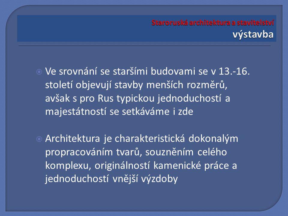 Staroruská architektura a stavitelství výstavba