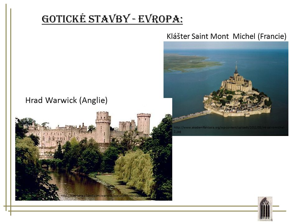 Gotické stavby - Evropa:
