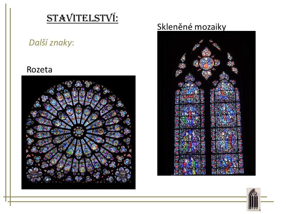Stavitelství: Skleněné mozaiky Další znaky: Rozeta