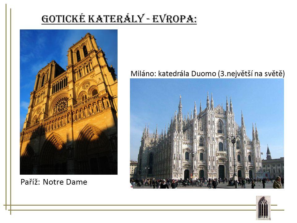 Gotické katerály - evropa: