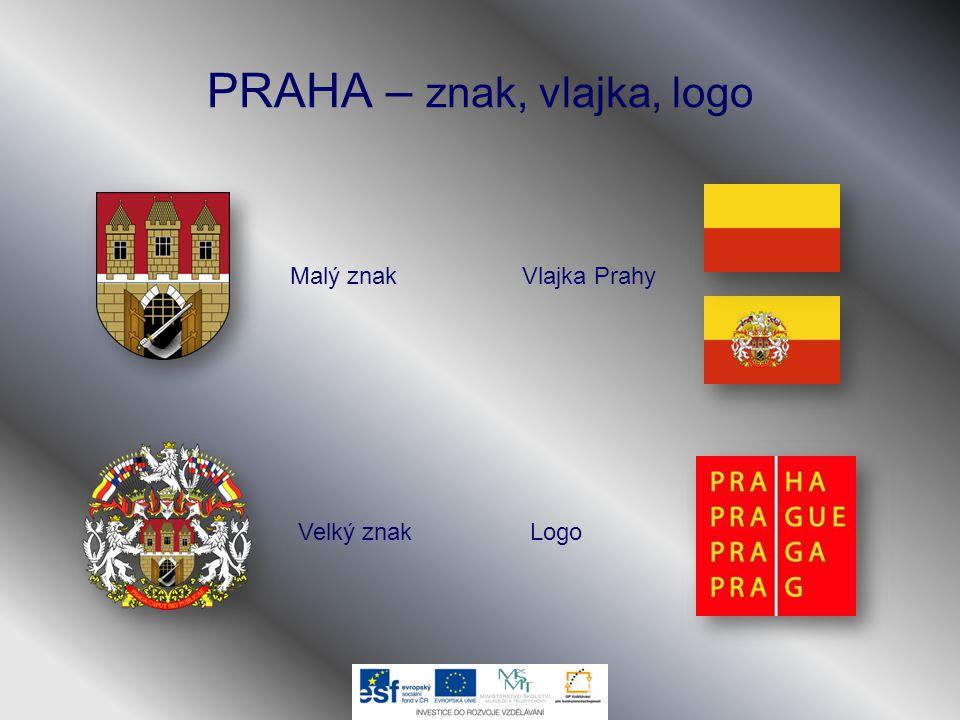 PRAHA – znak, vlajka, logo