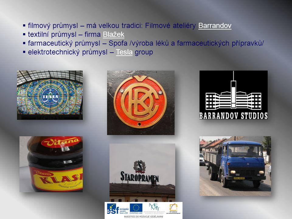 filmový průmysl – má velkou tradici: Filmové ateliéry Barrandov