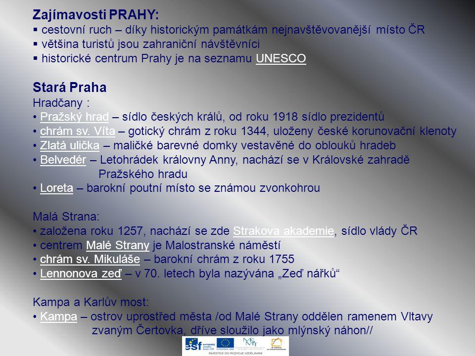 Zajímavosti PRAHY: Stará Praha