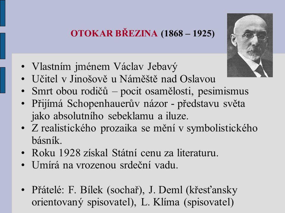 Vlastním jménem Václav Jebavý Učitel v Jinošově u Náměště nad Oslavou
