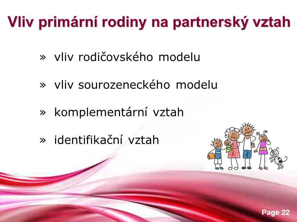 Vliv primární rodiny na partnerský vztah