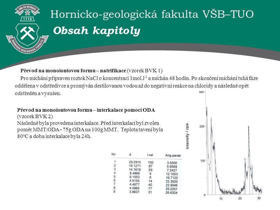 Obsah kapitoly Převod na monoiontovou formu – natrifikace (vzorek BVK 1)