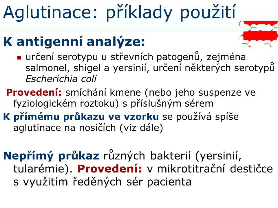 Aglutinace: příklady použití