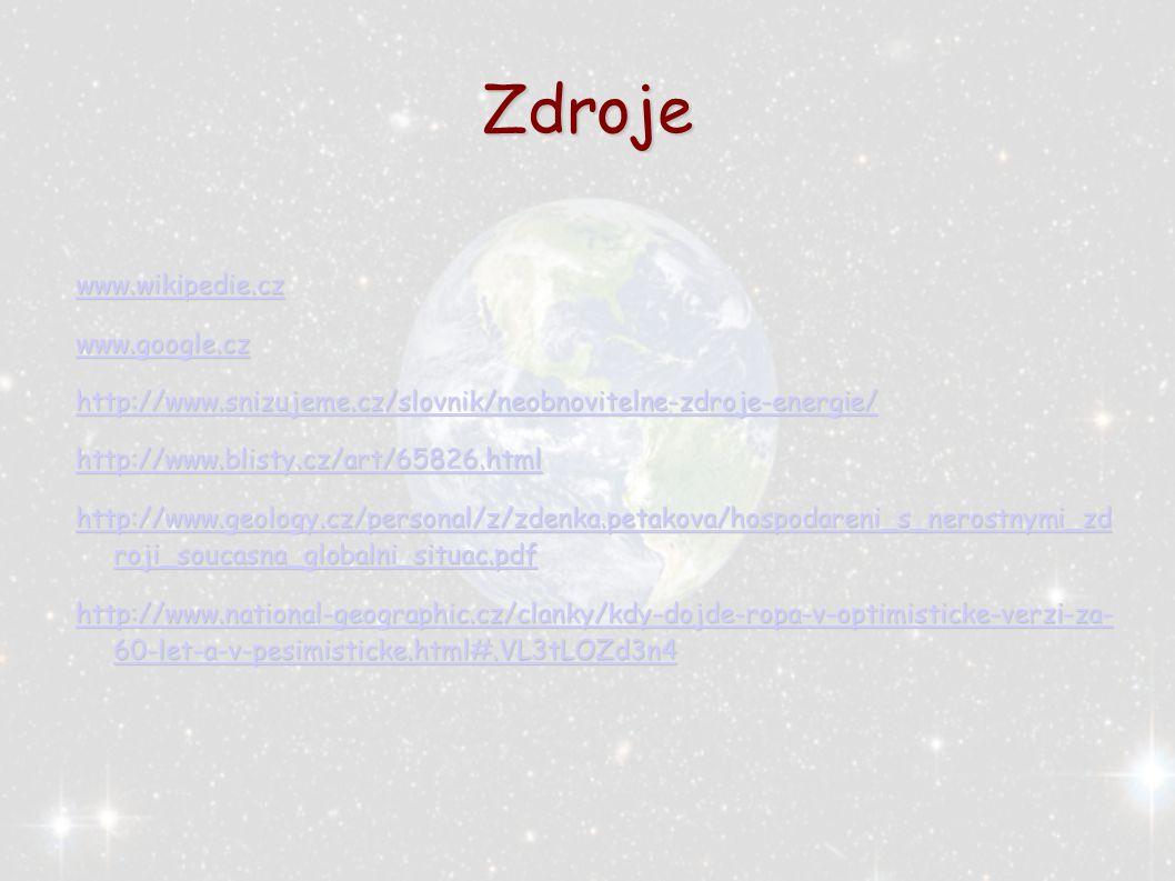 Zdroje www.wikipedie.cz www.google.cz