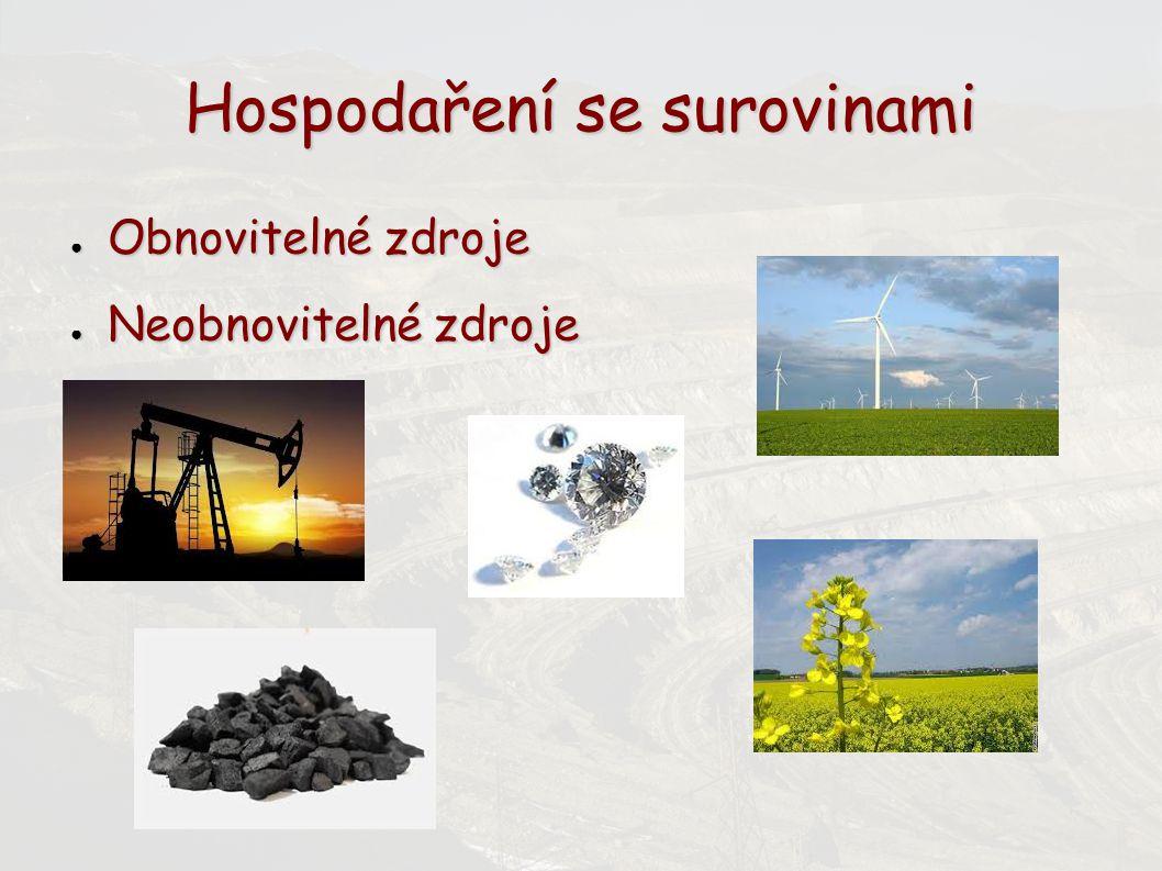 Hospodaření se surovinami