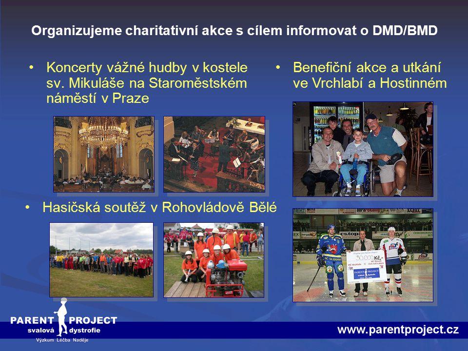 Organizujeme charitativní akce s cílem informovat o DMD/BMD
