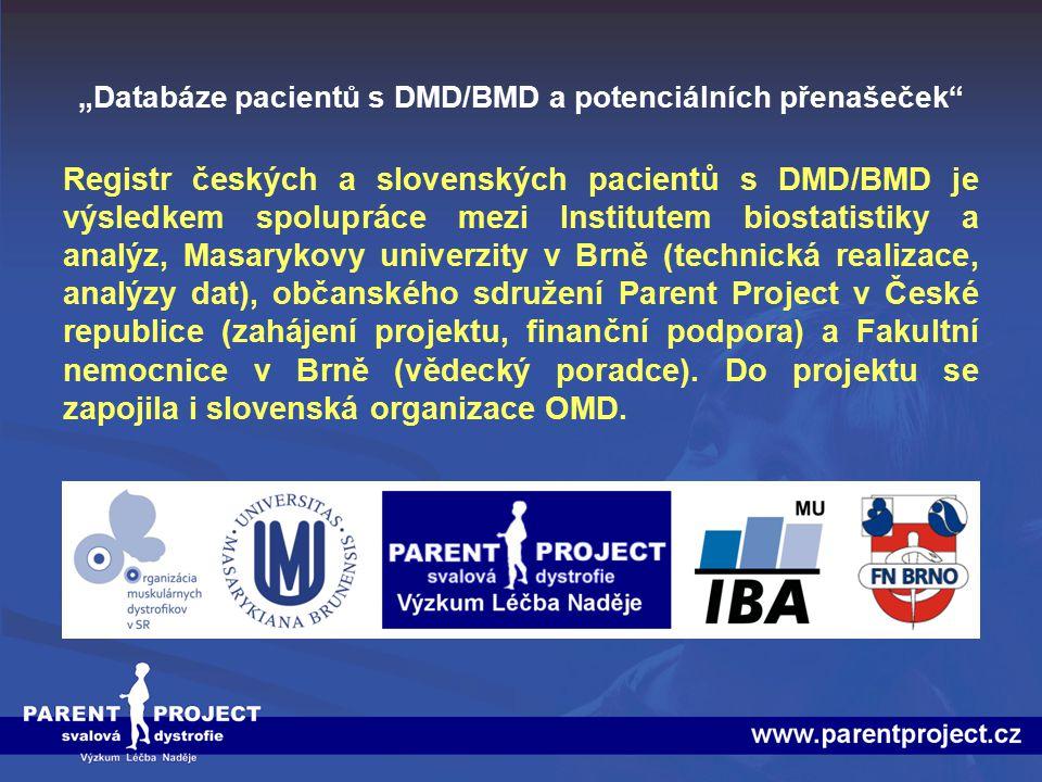 """""""Databáze pacientů s DMD/BMD a potenciálních přenašeček"""
