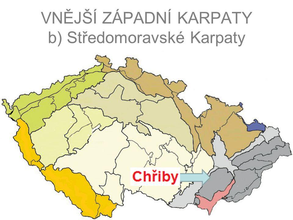 VNĚJŠÍ ZÁPADNÍ KARPATY b) Středomoravské Karpaty