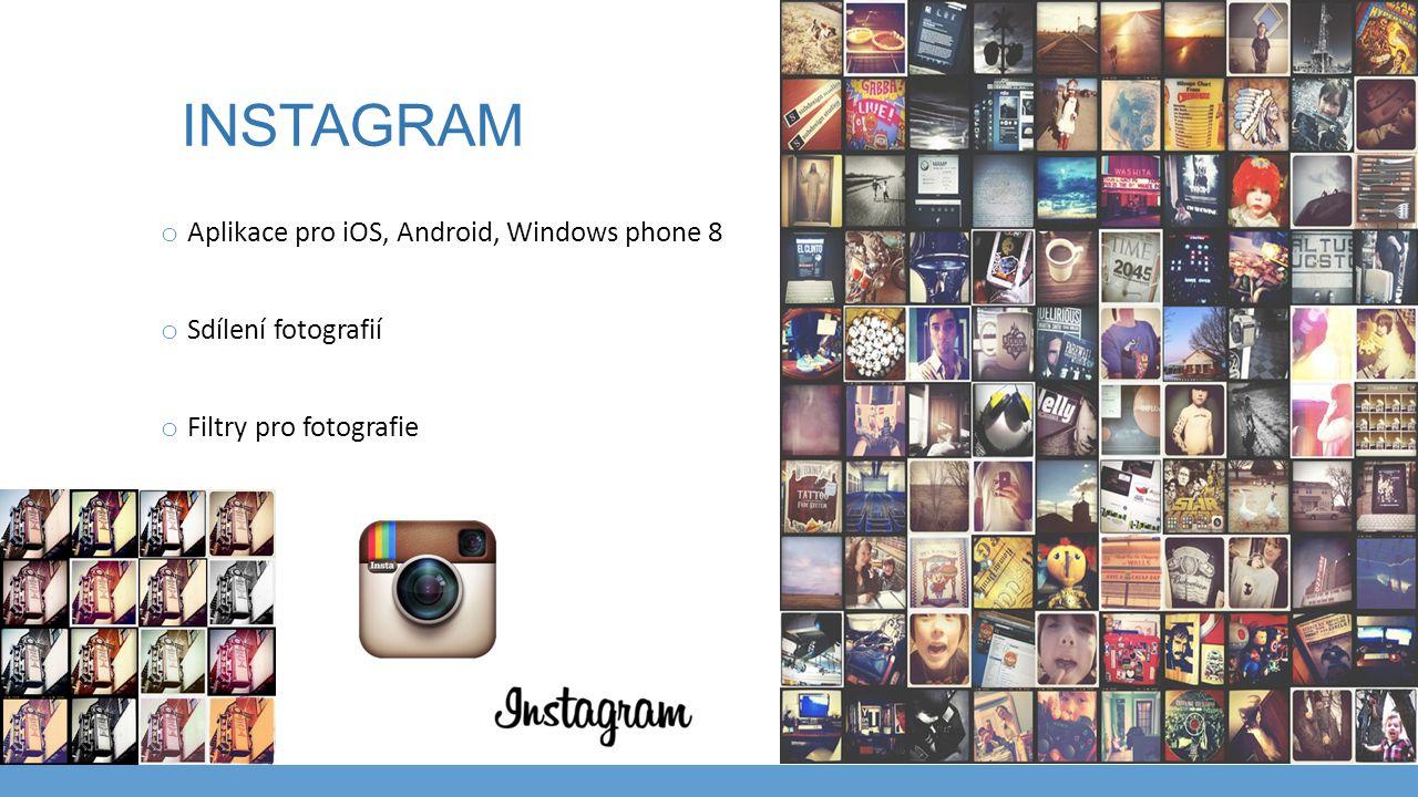 Instagram Aplikace pro iOS, Android, Windows phone 8