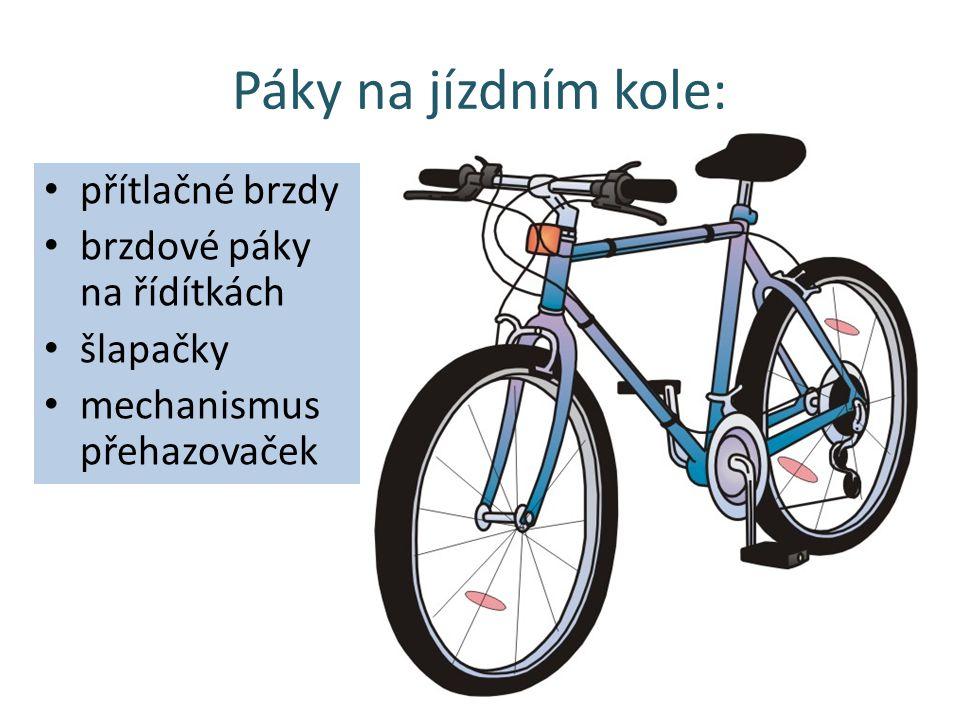 Páky na jízdním kole: přítlačné brzdy brzdové páky na řídítkách