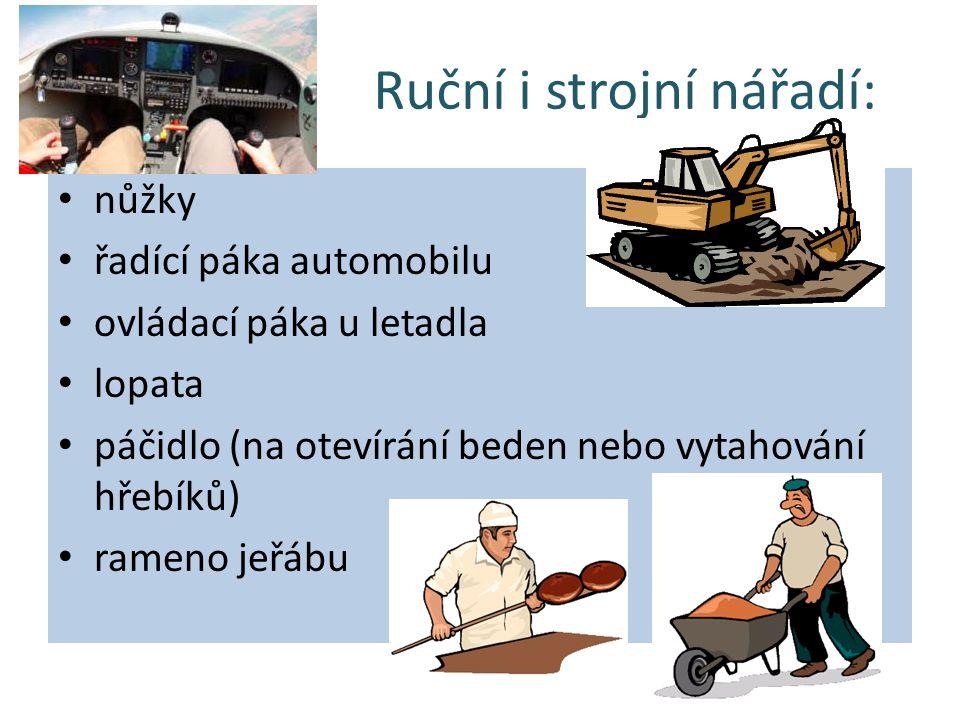 Ruční i strojní nářadí:
