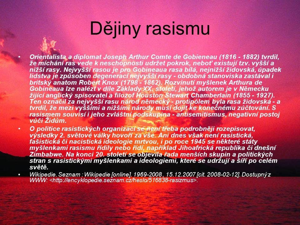 Dějiny rasismu
